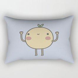 Happy Orange Rectangular Pillow