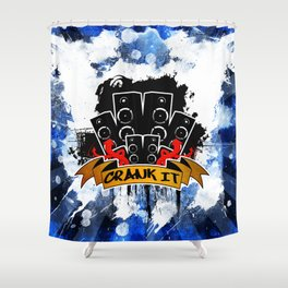 Crank It to Eleven Shower Curtain