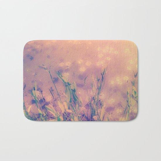 Lotus Pond and Spring Sunshine Bath Mat