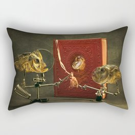 Fish and red book about fish Rectangular Pillow