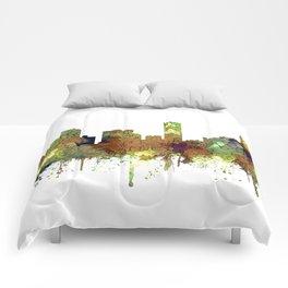Denver, Colorado Skyline SG - Safari Buff Comforters