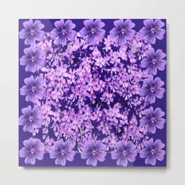 LILAC PURPLE SPRING PHLOX FLOWERS CARPET Metal Print