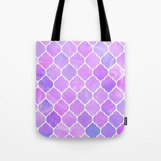 Pink and purple glass Moroccan print Tote Bag
