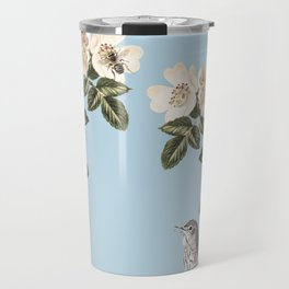 Birds and the Bees Blue Travel Mug