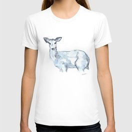 Deer Watercolor Sketch T-shirt