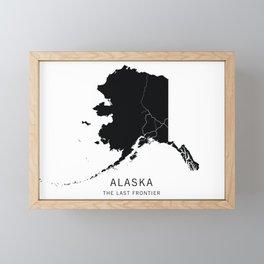 Alaska State Road Map Framed Mini Art Print