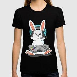 Gaming Bunny Gamer Rabit Headset Gamepad Gift T-shirt