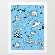 Vehicle Doodle (: Art Print