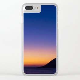 Twilight vibrant colorful sky above sea  at dusk time. Clear iPhone Case
