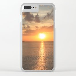 Cuban Sunset Clear iPhone Case