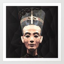 Nefertiti D Art Print