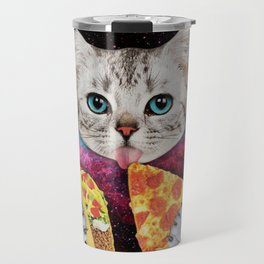 Cat Eat Pizza Travel Mug