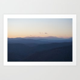 Blue Mountians Art Print