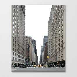 Staring down the avenue Canvas Print