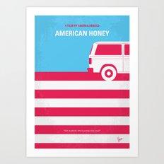 No786 My American Honey minimal movie poster Art Print