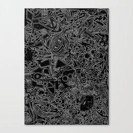 White/Black #1 Canvas Print