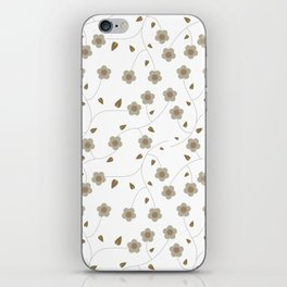 Floral background with leaves #society6 #decor #buyart #artprint iPhone Skin