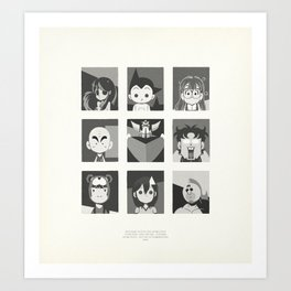 Super Mercredi Bros Heroes (3/8) Art Print