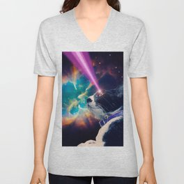 Neko San in Space Unisex V-Neck