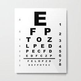Eye Test Chart Metal Print
