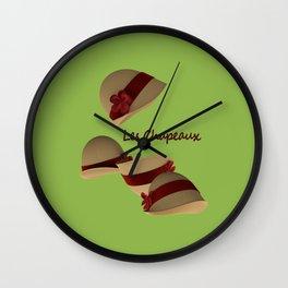 Les Chapeaux Wall Clock