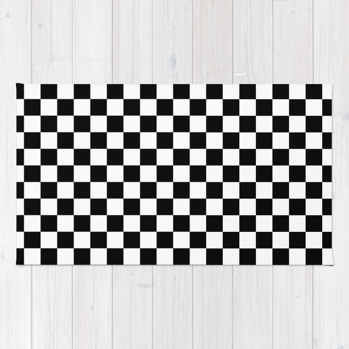 Checkered Flag Rug: Checkerboard Rug Game