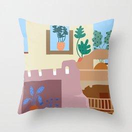 New Mexico Doorways Throw Pillow
