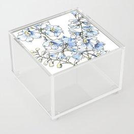 Blue Delphinium Flowers Acrylic Box