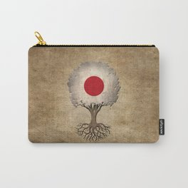 Vintage Tree of Life with Flag of Japan Carry-All Pouch