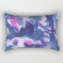 Blue Pink Abstract Painting #1 #ink #decor #art #society6 Rectangular Pillow