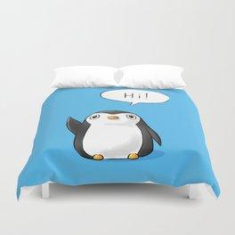 Hi Penguin Duvet Cover