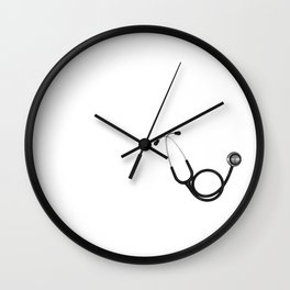 Nurse Religous With Jesus in her Heart and a Stethoscope in Her Hand Wall Clock