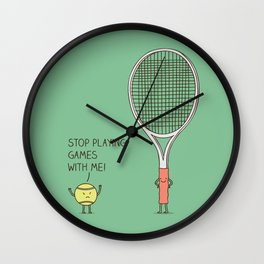 Angry ball Wall Clock