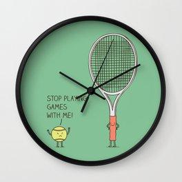 Angry ball Wall Clock