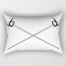 Rapier Foils Outline Rectangular Pillow
