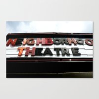 theatre Canvas Prints featuring Theatre by Caitlin Victoria Parker