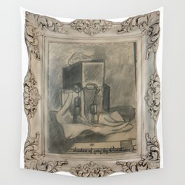 Shades of grey novel modern paintigs by Christian T. Wall Tapestry