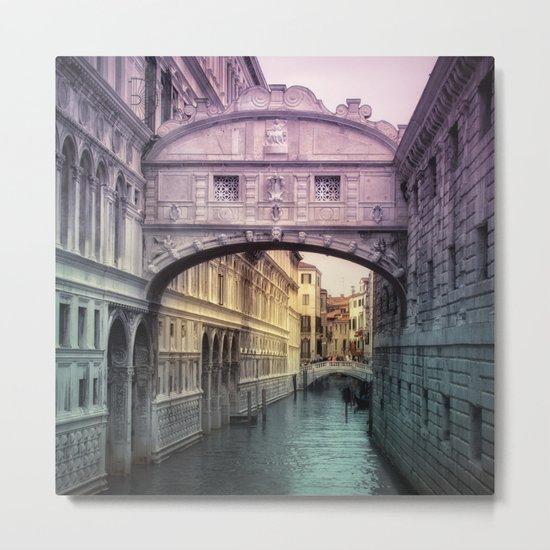 Ponte dei Sospiri   Bridge of Sighs - Venice (colored version) Metal Print