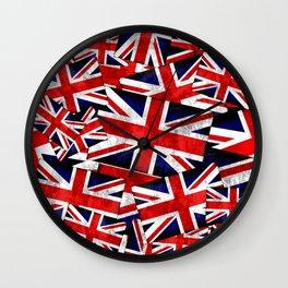 Union Jack British England UK Flag Wall Clock