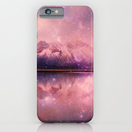 Reflections of Time - mountains and lakes iPhone Case
