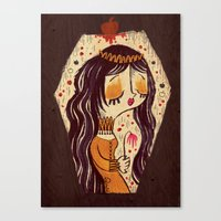 snow white Canvas Prints featuring Snow White by Pigologist