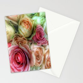 Roses - Pink and Cream Stationery Cards