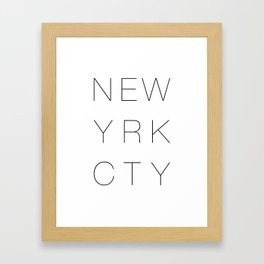 new york, new york city, typography, typo, typography poster, typography art, typography design, Framed Art Print