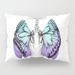 Butterfly Lungs Blue Purple Pillow Sham