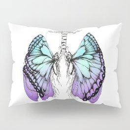 Butterfly Lungs Blue Purple Pillow Sham