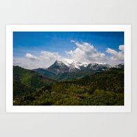 Over the hills and far away Art Print