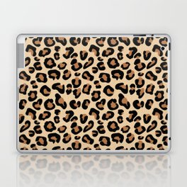 Leopard Print, Black, Brown, Rust and Tan Laptop & iPad Skin