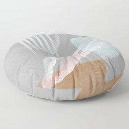 Arch mixed with abstract color shapes Floor Pillow