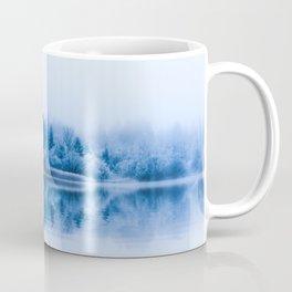 Morning reflections on the iced lake. Coffee Mug