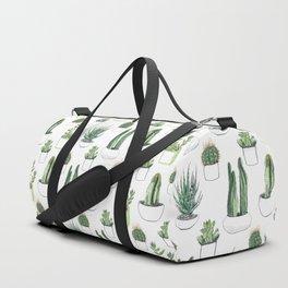 watercolour cacti and succulent Duffle Bag